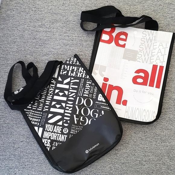 Lululemon 2 Reusable Tote Caryall Handbags